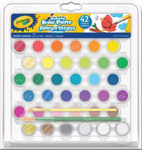 Trousse de peintures lavables Crayola, 42 couleurs