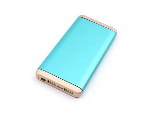 Chargeur portatif AutoTrends, 10 000 mAh, bleu sarcelle et or
