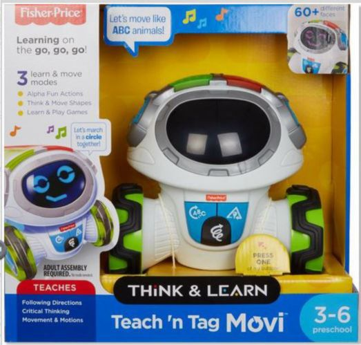Fisher Price Teach 'n Tag Movi Robot, English
