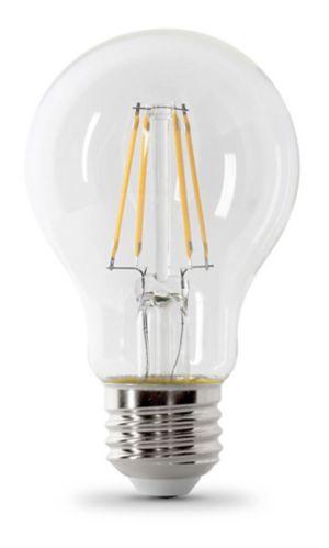 Ampoule à DEL Feit A19, 60 W, blanc doux, transparente, paq. 8