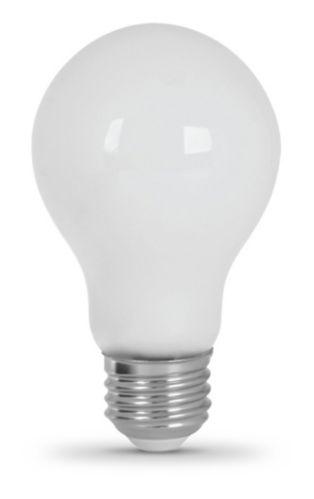 Feit LED A19 60W Filament Light Bulb, Soft White,White Glass, 8-pk Product image