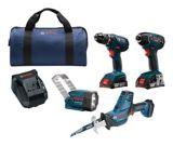 Bosch 18V Li-Ion Cordless 4-Tool Combo Kit   Boschnull