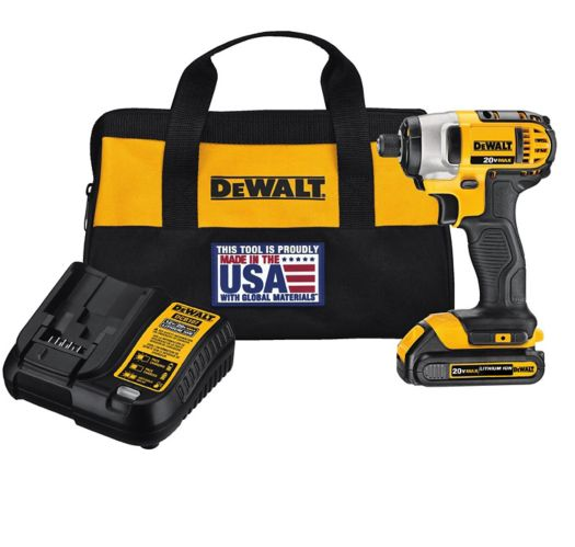 DEWALT 20V Max Li-Ion Impact Driver with Battery, ¼-in