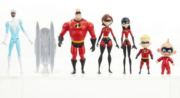 Figurines Les Incroyable 2, varié, 4 po