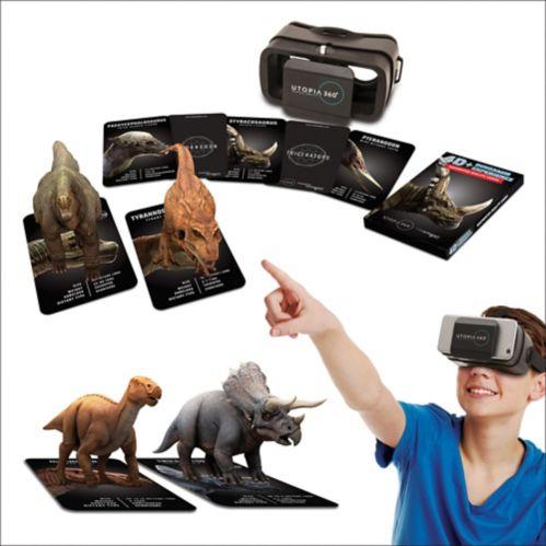 Jeu mobile réalité augmentée, dinosaures Image de l'article