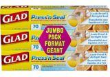 Pellicule adhérente multi-usages Glad Press 'n Seal, 3x70 pi   GLADnull