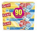 Glad® Large Freezer Zipper Bags, 3 x 30-ct | GLADnull