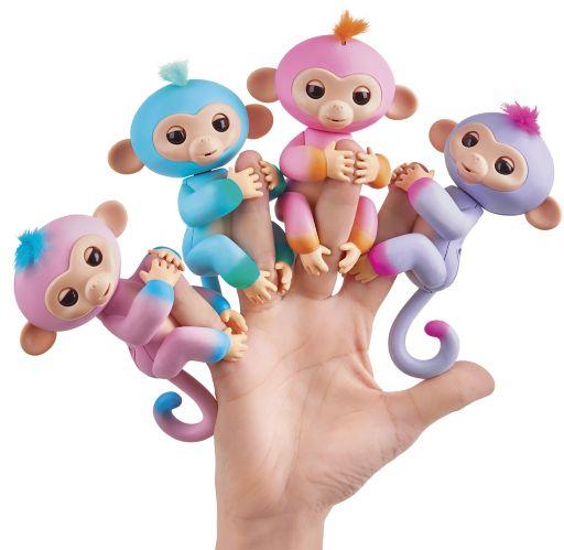Bébés singes Fingerlings, deux tons, anglais