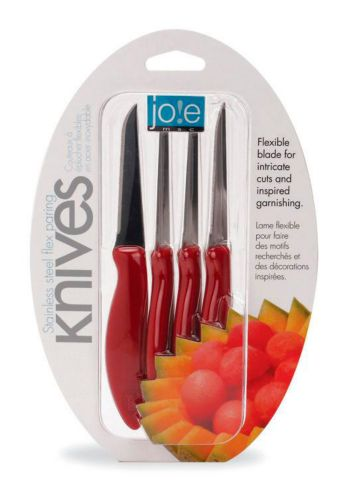 Joie Stainless Steel Flex Paring Knives Set, 4-pc