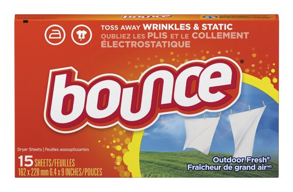 Bounce Fabric Softener Dryer Sheets, Outdoor Fresh, 15-Count