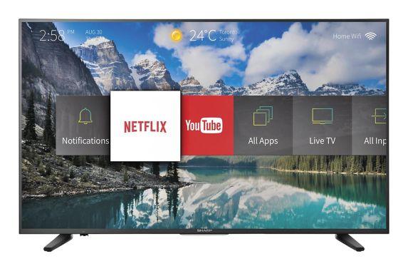 Téléviseur intelligent Ultra HD Sharp 4K, 43 po