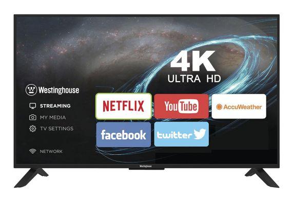 Téléviseur intelligent4K UHD de Westinghouse, 43po