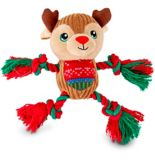 Holiday Reindeer Dog Toy, 6-in | HLDYnull