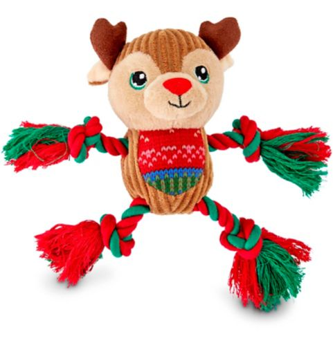 Holiday Reindeer Dog Toy, 6-in