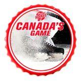 Enseigne bouchon de bouteille hockey | Budweisernull