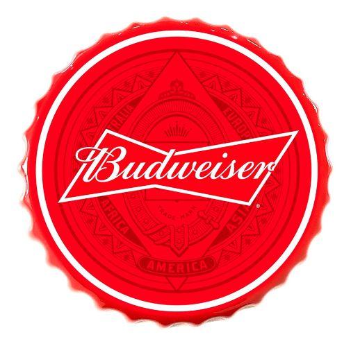 Enseigne bouchon de bouteille Budweiser Image de l'article