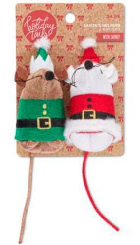Souris à queues touffues pour chats Petco, père Noël et lutin, paq. 2 Image de l'article
