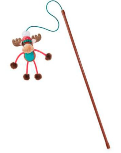 Petco Holiday Tails Moose Cat Teaser Toy Product image