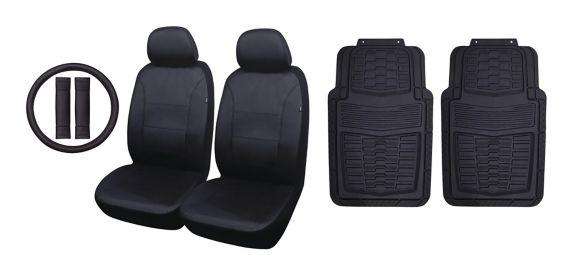 Auto Seat Cover & Floor Mat Kit, Black, 7-pc Product image