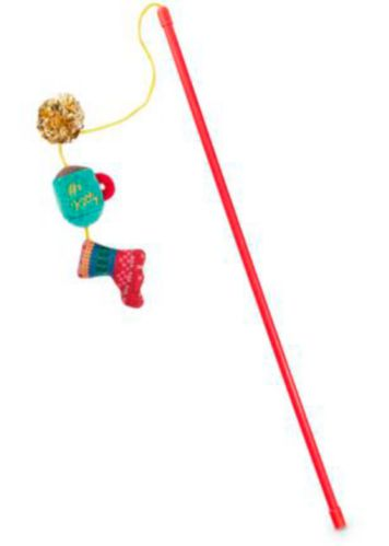 Petco Holiday Tails Festive Items Cat Teaser Toy Product image