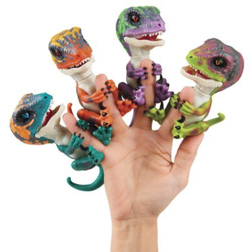 Bébés vélociraptor de Fingerlings, bilingue, choix varié Image de l'article