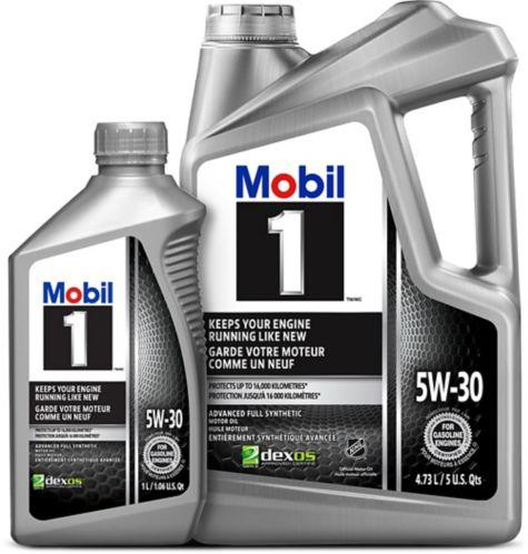 Mobil 1 5W30 Synthetic Motor Oil, 4.73-L + 1-L
