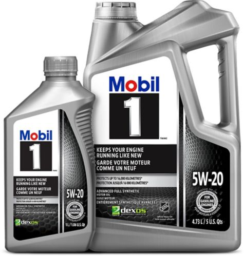 Mobil 1 5W20 Synthetic Motor Oil, 4.73-L + 1-L Product image