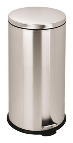 For Living Round Stainless Steel Garbage Can, 10-L