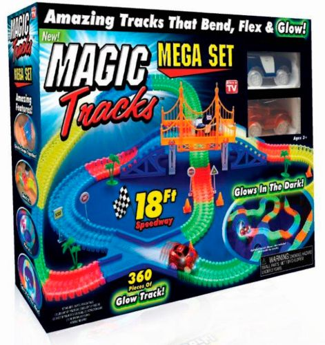 Piste de voiture de course Magic Tracks Mega Set, comme à la télé