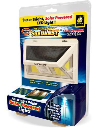 Lampe solaire activée par le mouvement Atomic Beam SunBlast, comme à la télé Image de l'article