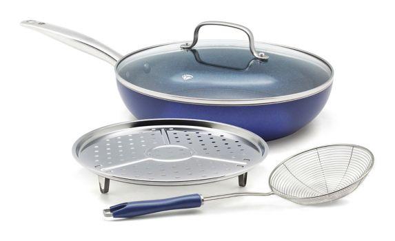 As Seen On TV Blue Diamond Cookware Set, 4-pc