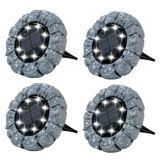 As Seen On TV Bell & Howell Outdoor Solar Disk Lights, Pebble   Bell and Howellnull