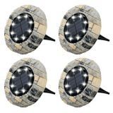 As Seen On TV Bell & Howell Outdoor Solar Disk Lights, Slate Rock | Bell and Howellnull