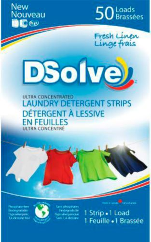 As Seen On TV Dsolve Laundry Detergent Strip, Fresh Linen Product image