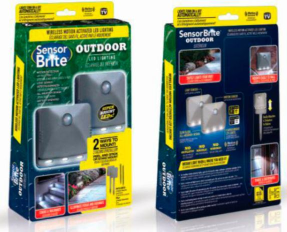 As Seen On TV Sensor Brite Outdoor LED Lighting, 2-pk