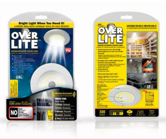As Seen On TV Over Lite Motion Activated Ceiling Light