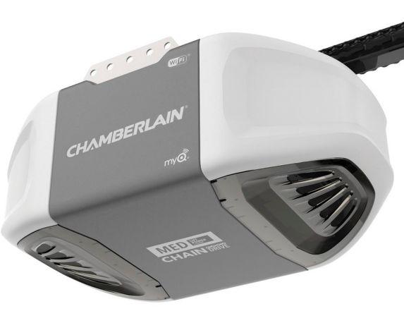 Ouvre-porte de garage WiFi à transmission par chaîne de 1/2 HP Chamberlain Image de l'article