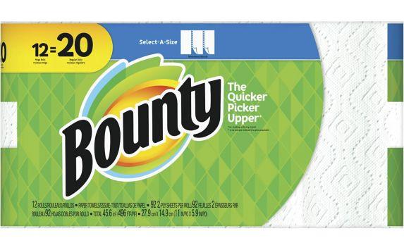 Essuie-tout Bounty 12 = 20 rouleaux