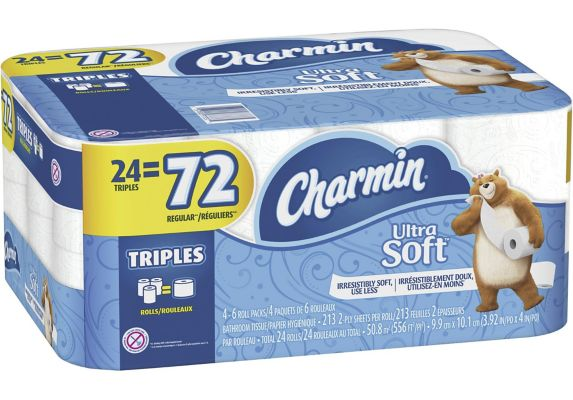 Charmin Ultra-Soft 2-Ply Triple Roll Toilet Paper, 24-Roll Product image