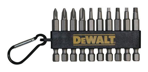 Embouts de tournevis variés DeWALT avec mousqueton à clip, 2 po, paq. 10 Image de l'article