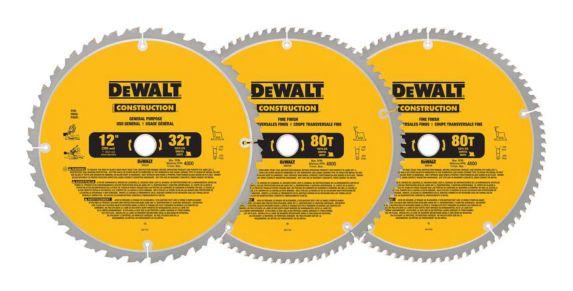 DEWALT Circular Saw Blades, 12-in, 3-pk Product image