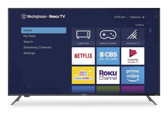 Téléviseur intelligent Ultra HD Westinghouse 4K avec Roku, 58 po Image de l'article