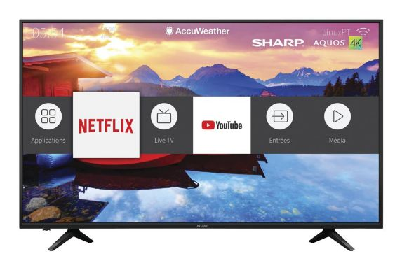 Téléviseur intelligent à DEL Sharp 4K, 65 po