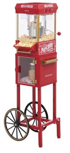 Nostalgia Kettle Cart Popcorn Maker, Large, 3-oz