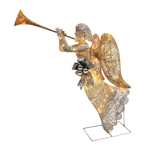 Gold Angel with Trumpet