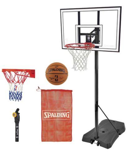 Ensemble de système et d'accessoires de basketball portatif Spalding Hercules en polycarbonate, 44 po Image de l'article