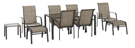 For Living Sling Patio Dining Set, 10-pc