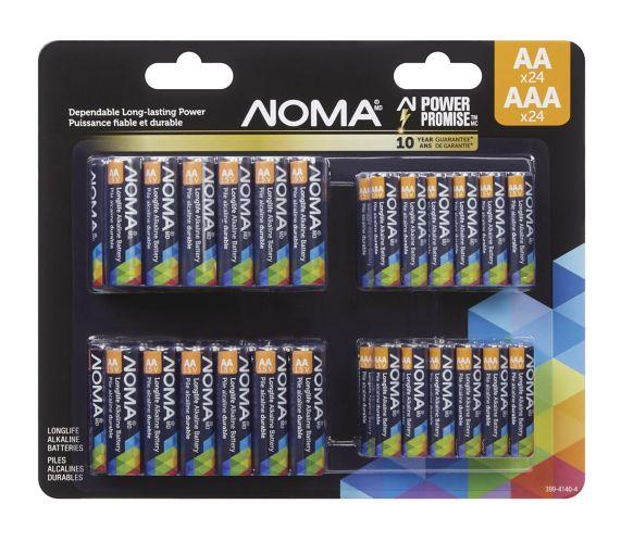 Paquet économique de piles alcalines NOMA AA/24 AAA/24 Image de l'article