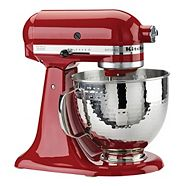Batteur sur socle KitchenAid Artisan, bol martelé