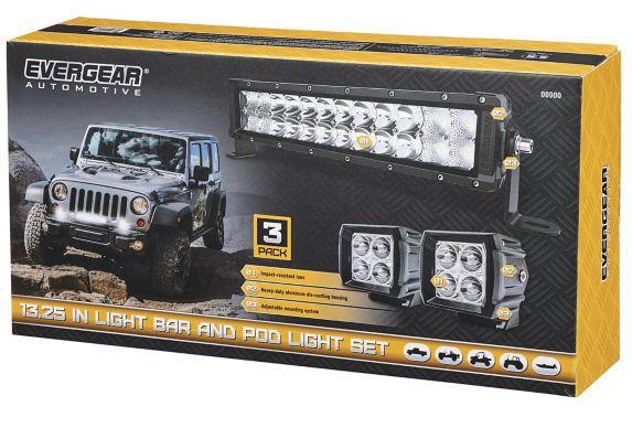 LED Offroad Light Bar and Spotlight Combo Kit